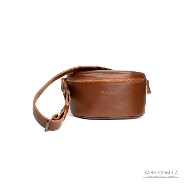 Купити Шкіряна поясна сумку Explorer S світло-коричнева - TW-Explorer-S-kon-ksr The Wings. Україна