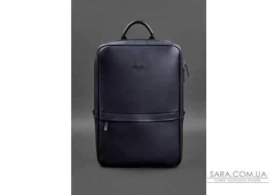 Темно-синій шкіряний чоловічий рюкзак Foster - BN-BAG-39-navy-blue BlankNote