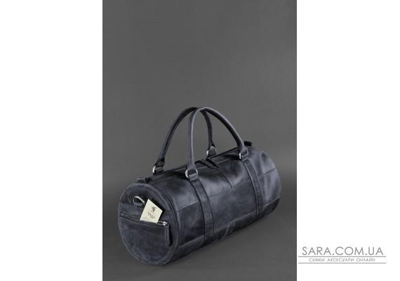 Чоловіча шкіряна сумка Harper темно-синя Crazy Horse - BN-BAG-14-nn BlankNote