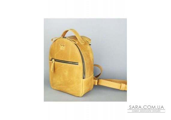 Шкіряний рюкзак Groove S жовтий вінтажний - TW-Groove-S-yell-crz The Wings