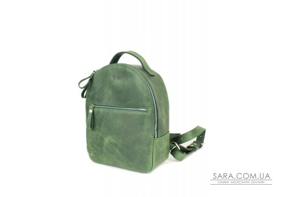 Шкіряний рюкзак Groove S зелений вінтажний - TW-Groove-S-green-crz The Wings