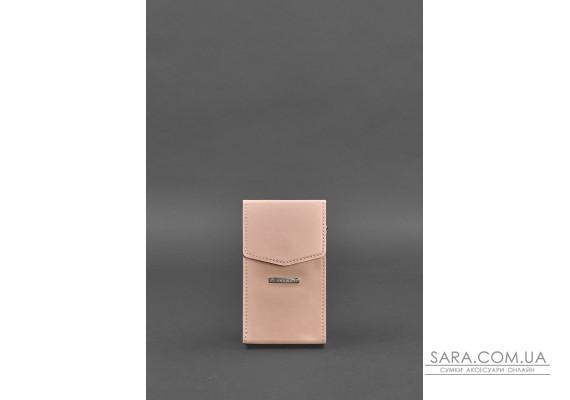 Вертикальна жіноча шкіряна сумка Mini рожева поясна / кроссбоді - BN-BAG-38-1-pink BlankNote