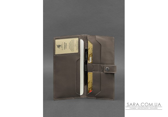 Шкіряний тревел-кейс (органайзер для документів) 6.0 темно-бежевий - BN-TK-6-beige BlankNote