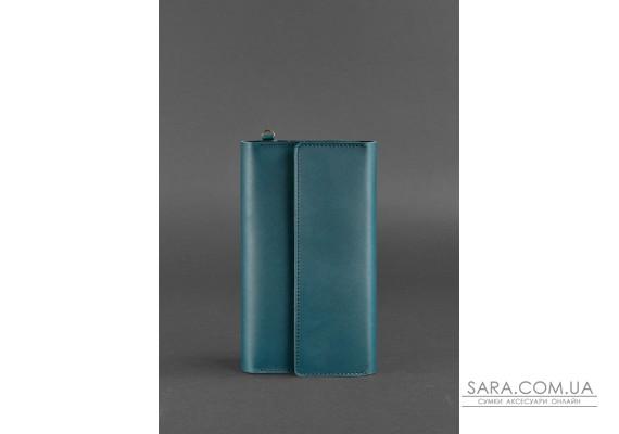 Шкіряний клатч-органайзер (Тревел-кейс) 5.1 зелений - BN-TK-5-1-malachite BlankNote