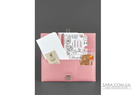 Шкіряний жіночий тревел-кейс Journey 2.0 Рожевий - BN-TK-2-pink-peach BlankNote