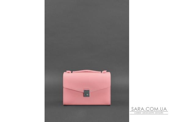 Жіноча шкіряна сумка-кроссбоді Lola рожева - BN-BAG-35-pink BlankNote