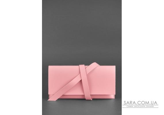 Шкіряний жіночий тревел-кейс Voyager 1.0 Рожевий - BN-TK-1-pink-peach BlankNote