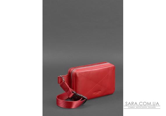 Шкіряна жіноча поясна сумка Dropbag Mini червона - BN-BAG-6-red BlankNote