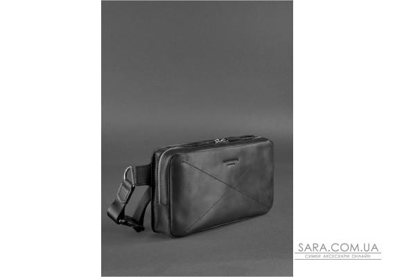 Шкіряна поясна сумка Dropbag Maxi чорна Crazy Horse - BN-BAG-20-g-kr BlankNote
