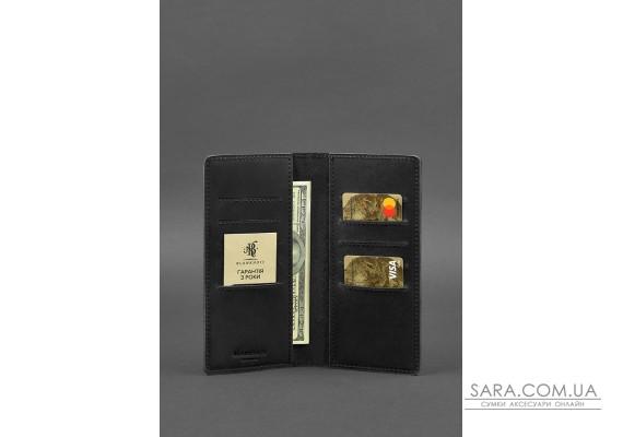 Шкіряне портмоне-купюрник 11.0 чорне Crazy Horse - BN-PM-11-g-kr BlankNote