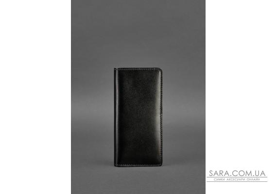 Шкіряне портмоне-купюрник 11.0 чорне Краст - BN-PM-11-g BlankNote