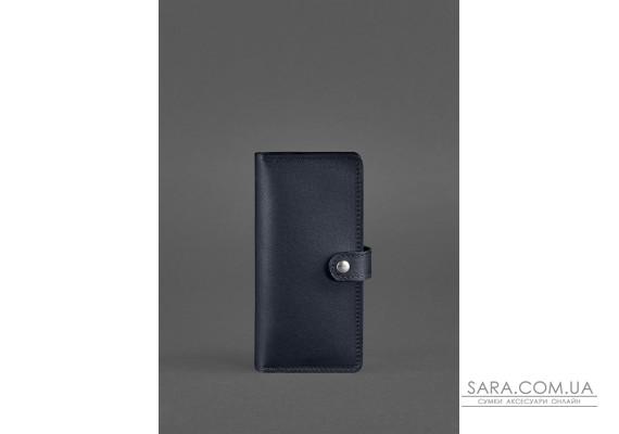 Шкіряне портмоне 7.0 темно-синє - BN-PM-7-navy-blue BlankNote