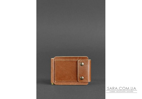 Чоловіче шкіряне портмоне світло-коричневе 10.0 затиск для грошей - BN-PM-10-k BlankNote