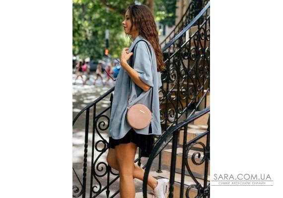 Кругла жіноча шкіряна сумочка Tablet світло-бежева - BN-BAG-23-crem-brule BlankNote