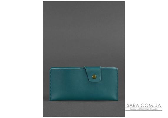 Шкіряне портмоне-купюрник 8.0 зелене - BN-PM-8-malachite BlankNote