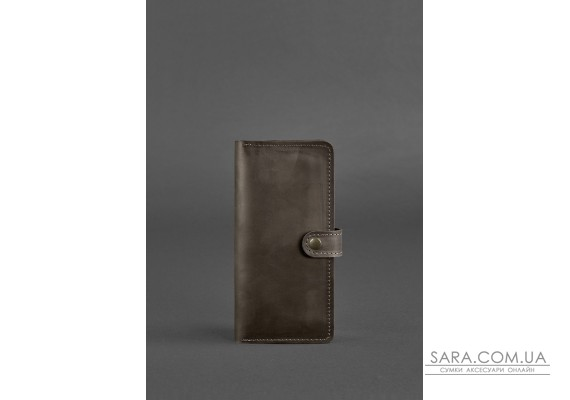 Шкіряне портмоне 7.0 Темно-коричневе Crazy Horse - BN-PM-7-o BlankNote