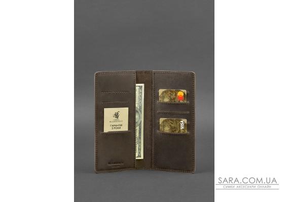 Шкіряне портмоне-купюрник 11.0 темно-коричневе - BN-PM-11-o BlankNote