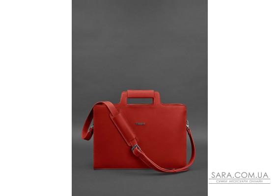 Жіноча шкіряна сумка для ноутбука і документів червона - BN-BAG-36-red BlankNote