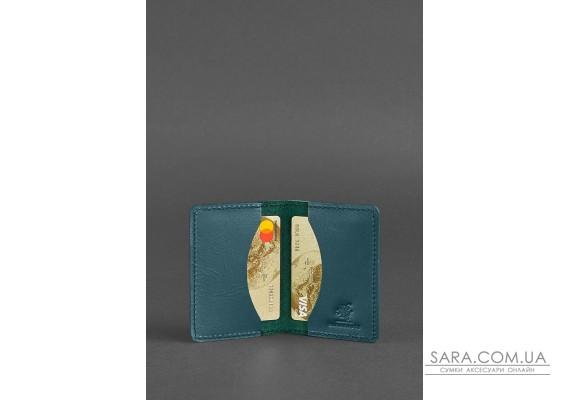 Жіночий шкіряний кард-кейс 6.0 зелений - BN-KK-6-malachite BlankNote