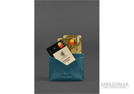 Жіночий шкіряний кейс-слім 5.0 зелена - BN-KK-5-malachite BlankNote