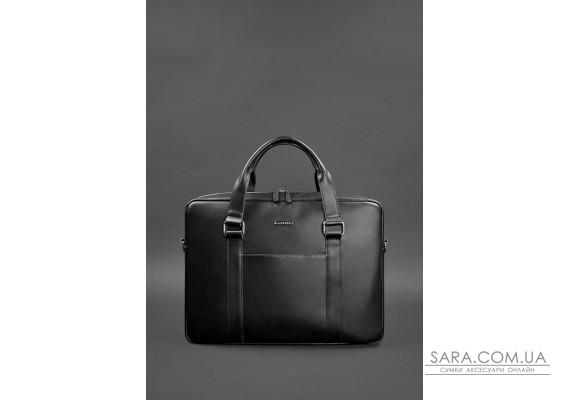 Шкіряна сумка для ноутбука і документів чорна - BN-BAG-37-g BlankNote