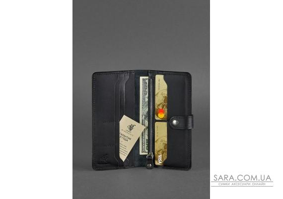Кожаное портмоне 7.0 черное - BN-PM-7-g BlankNote