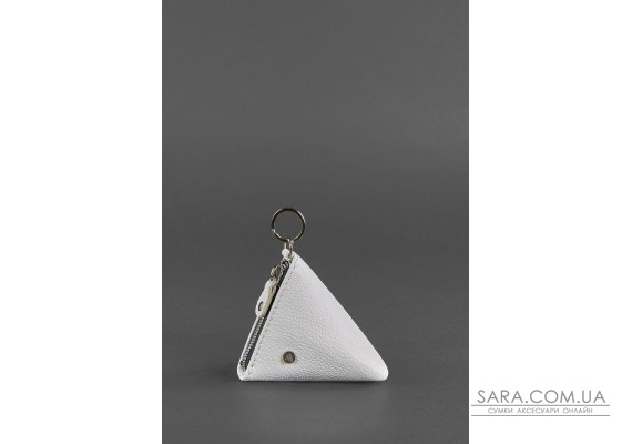 Жіноча шкіряна монетниця 2.0 Піраміда біла - BN-CW-2-white BlankNote