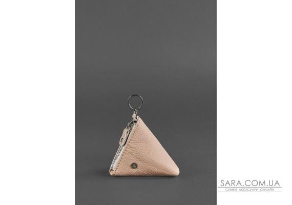 Жіноча шкіряна монетниця 2.0 Піраміда світло-бежева - BN-CW-2-crem-brule BlankNote
