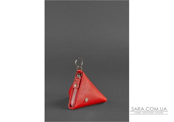 Жіноча шкіряна монетниця 2.0 Піраміда червона - BN-CW-2-rubin BlankNote