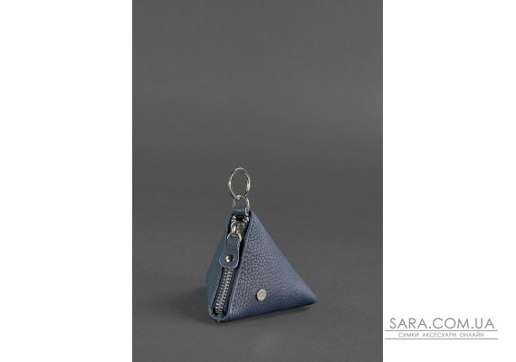 Шкіряна монетниця 2.0 Піраміда Синя - BN-CW-2-blue BlankNote