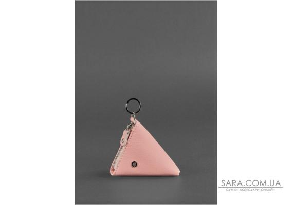 Жіноча шкіряна монетниця 2.0 Піраміда рожева - BN-CW-2-barbi BlankNote