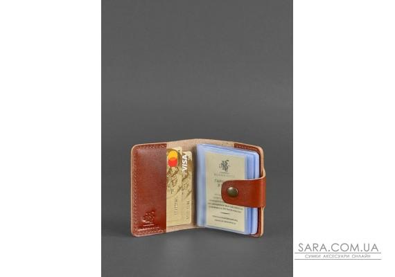 Шкіряний кард-кейс 7.1 (Книжечка) світло-коричневий - BN-KK-7-1-k BlankNote