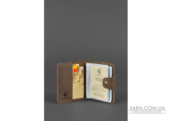 Шкіряний кард-кейс 7.1 (Книжечка) темно-коричневий - BN-KK-7-1-o BlankNote