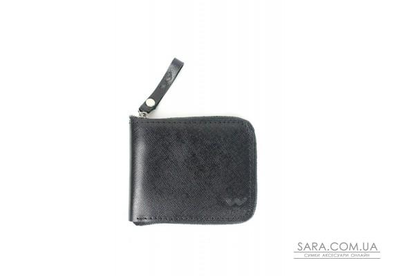 Кожаное портмоне Keeper mini черный - TW-Keeper-mini-black-saf The Wings