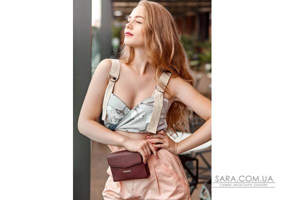 Жіноча шкіряна сумка поясна / кроссбоді Mini бордова - BN-BAG-38-2-vin BlankNote