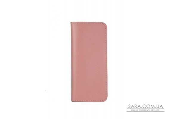 Шкіряне портмоне Middle рожеве - TW-Middle-pink-ksr The Wings