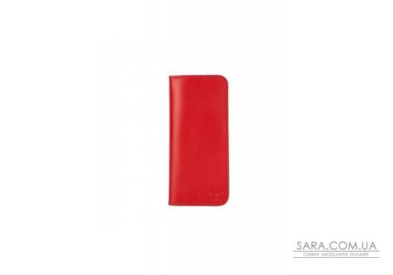 Шкіряне портмоне Middle червоне - TW-Middle-red-ksr The Wings