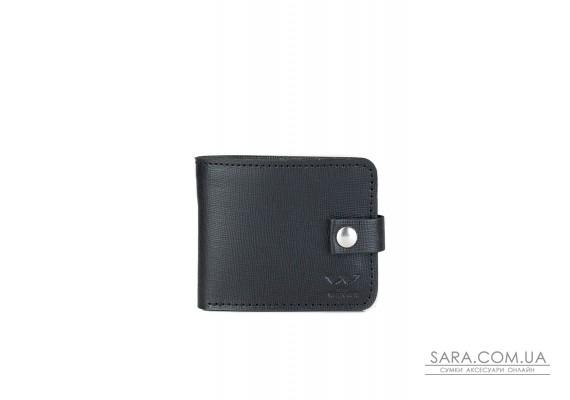Кожаное портмоне Mini 2.0 черный сафьян - TW-Portmone-mini-2-black-saf The Wings