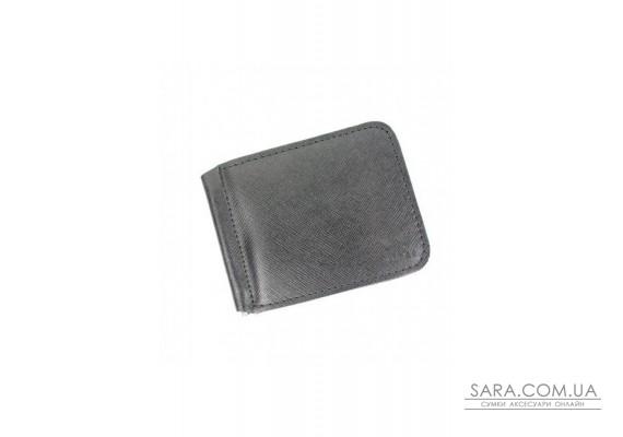 Кожаный зажим для денег черный сафьян - TW-MoneyClip-black-saf The Wings