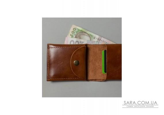 Шкіряний гаманець Mini з монетницею світло-коричневий - TW-CW-Mini-kon-ksr The Wings