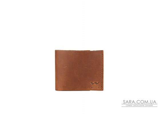 Шкіряний гаманець Mini з монетницею світло-коричневий вінтажний - TW-CW-Mini-kon-crz The Wings
