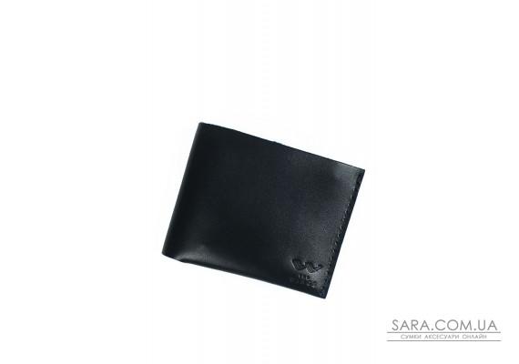 Шкіряний гаманець Mini з монетницею чорний - TW-CW-Mini-black-ksr The Wings