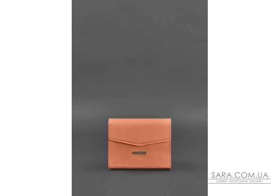Жіноча шкіряна сумка поясна / кроссбоді Mini Живий корал - BN-BAG-38-2-living-coral BlankNote