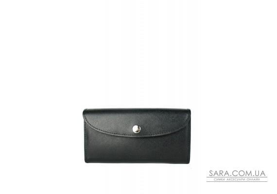 Шкіряний гаманець Smart Wallet чорний сап'ян - TW-Smart-black-saf The Wings