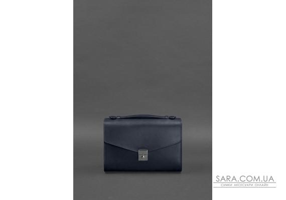 Жіноча шкіряна сумка-кроссбоді Lola темно-синя - BN-BAG-35-navy-blue BlankNote