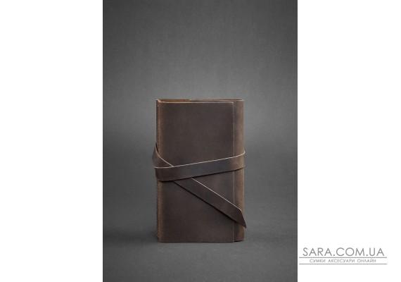 Шкіряний блокнот (Софт-бук) 1.0 темно-коричневий - BN-SB-1-st-o BlankNote