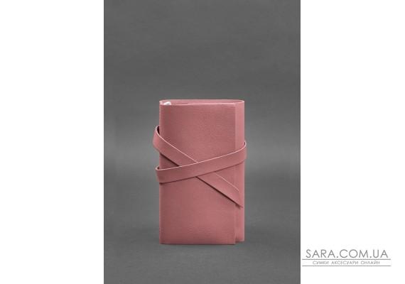 Жіночий шкіряний блокнот (Софт-бук) 1.0 Рожевий - BN-SB-1-st-pink-peach BlankNote