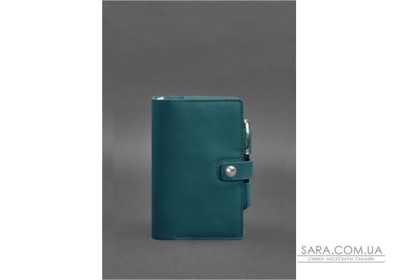 Шкіряний блокнот (Софт-бук) 4.0 зелений Краст - BN-SB-4-malachite BlankNote