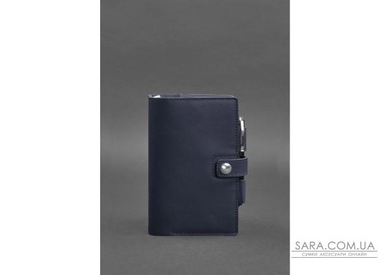 Шкіряний блокнот (Софт-бук) 4.0 темно-синій Краст - BN-SB-4-st-navy-blue BlankNote