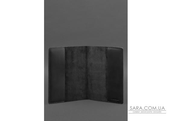 Шкіряна обкладинка для блокнота 6.0 (софт-бук) чорна Crazy Horse - BN-SB-6-g-kr BlankNote